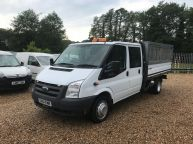 FORD TRANSIT 350 E/F LWB CREWCAB DROPSIDE WITH CAGE 2.4 TDCI *AIR CON!!! - 994 - 1