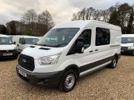 FORD TRANSIT 350 L3H2 LWB MESS VAN WITH TOILET **ONLY 9700 MILES** 2.2 TDCI *6 SPEED!!! - 1200 - 1