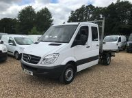 MERCEDES BENZ SPRINTER 313 CDI MWB DOUBLE CAB TIPPER **Sorry Now Sold!!! - 1058 - 1
