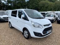 FORD TRANSIT CUSTOM 290 LIMITED SWB *6 SEAT CREWVAN* 2.2 TDCI 125 *6 SPEED!!! - 1330 - 3