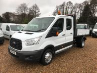 FORD TRANSIT 350 DOUBLE CAB TIPPER 125 BHP 2.2 TDCI **6 SPEED!!! - 1129 - 1