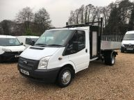 FORD TRANSIT 350 SINGLE CAB TIPPER WITH TOOLBOX **BRAND NEW BODY** 2.2 TDCI *6 SPEED!!!  - 1139 - 1